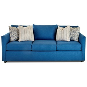 Transitional Sofa with Tuxedo Arms