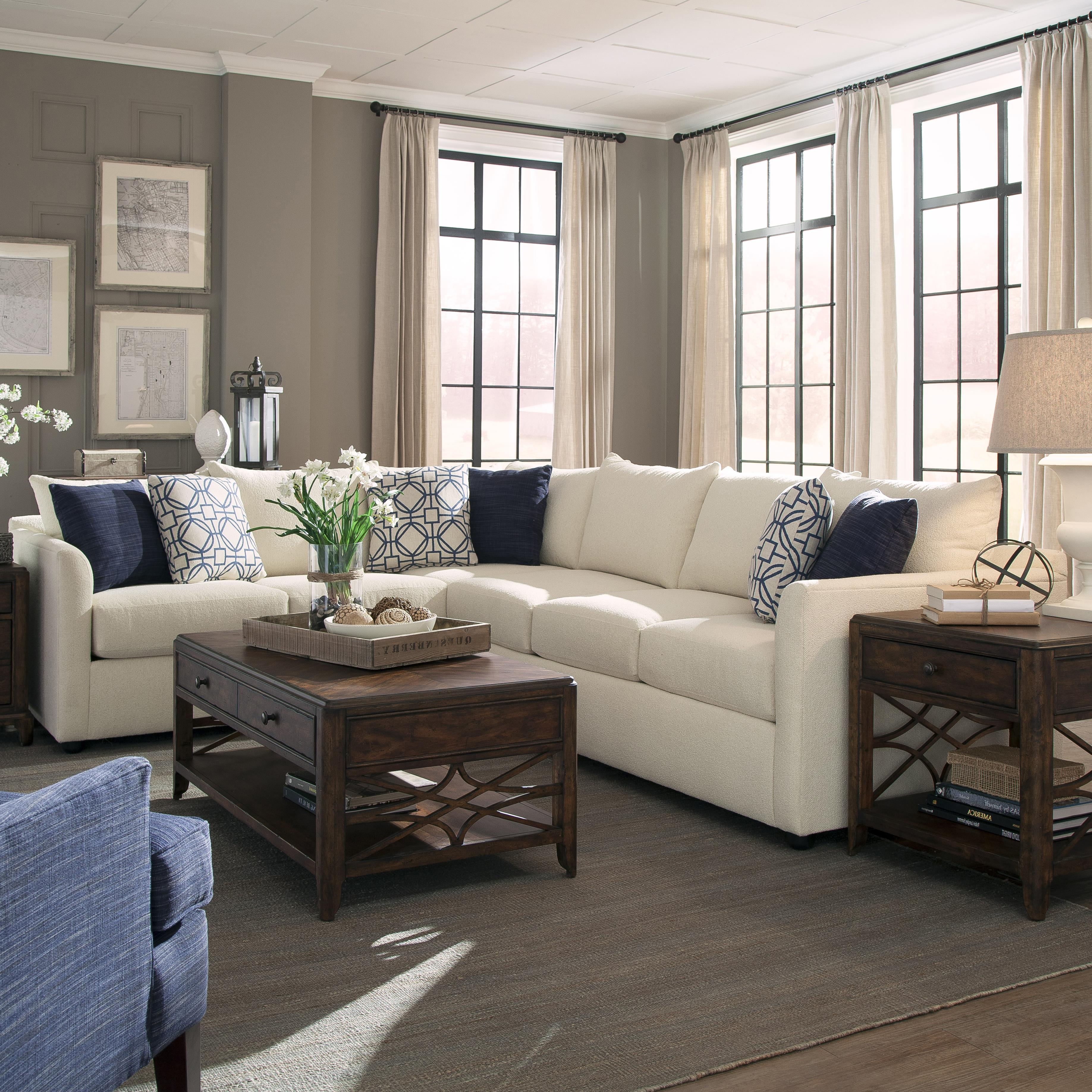 Home Outlet Furniture Okc: Transitional Sectional Sofa With Tuxedo Arms By Trisha