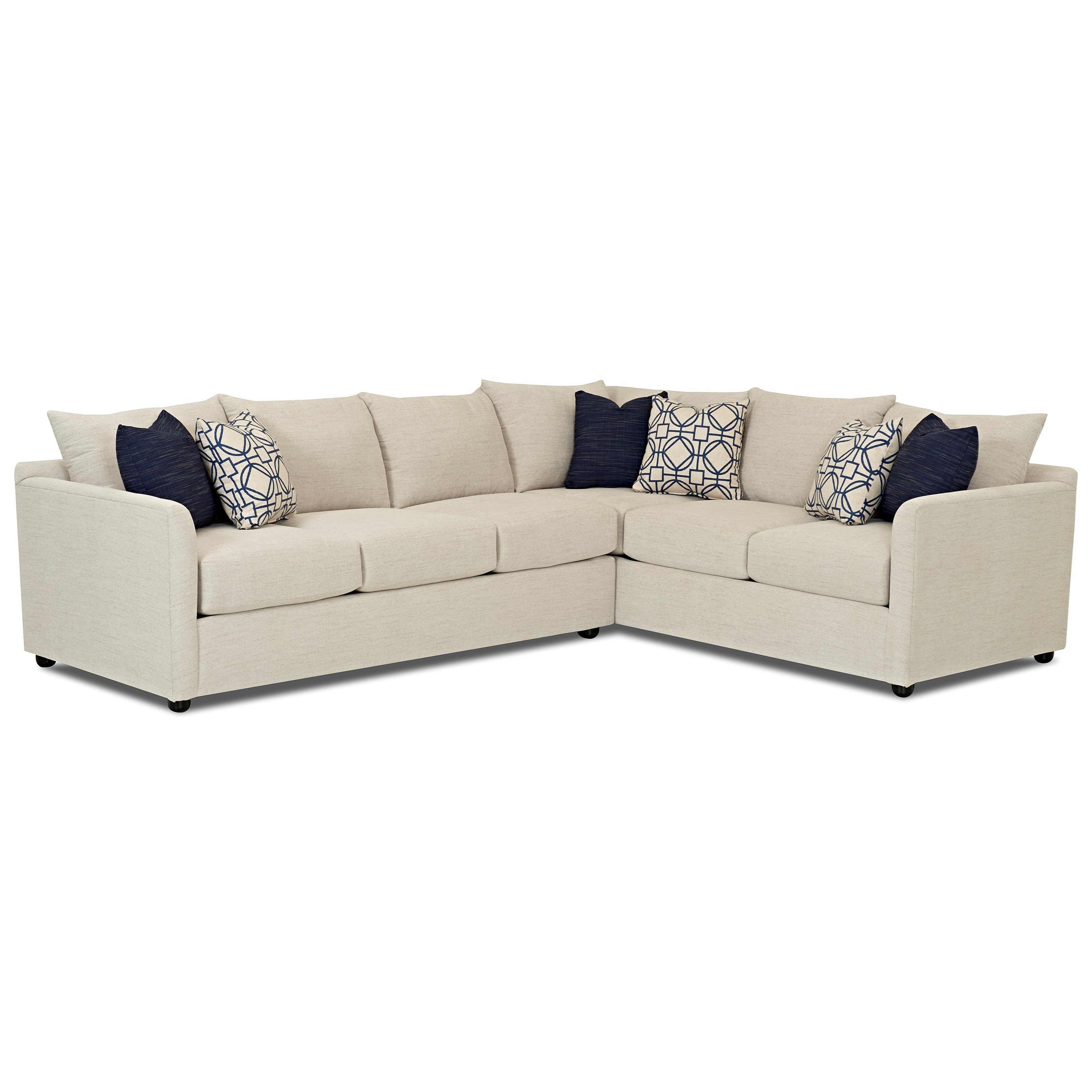 transitional sectional sofa with tuxedo arms by trisha yearwood home rh wolffurniture com Herman Miller Tuxedo Sectional Sofa Bench Seat Sectional Sofa