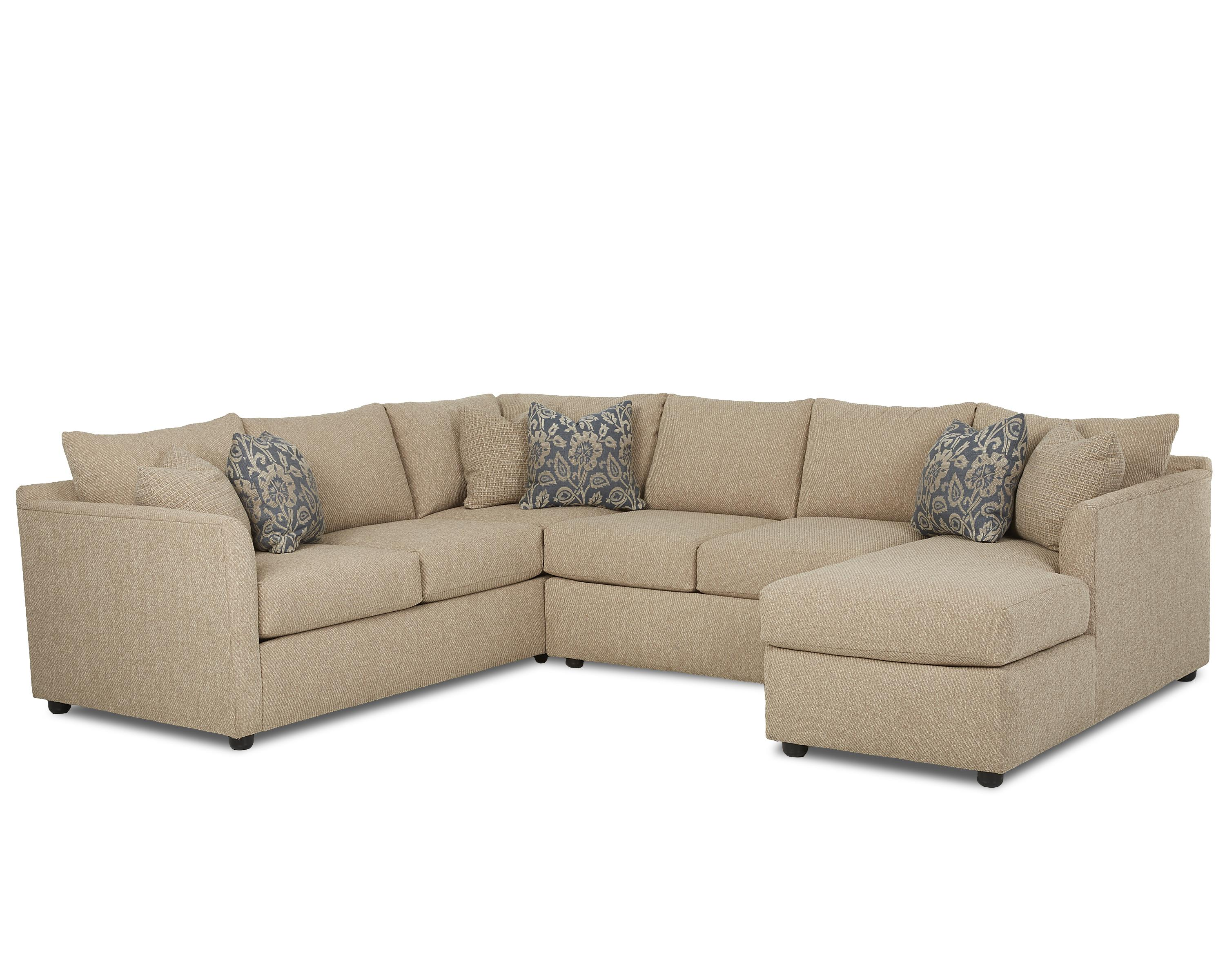 Transitional Sectional Sofa with Chaise