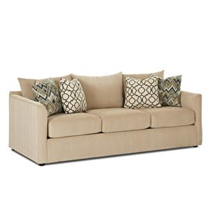 Transitional Sleeper Sofa w/ Dreamquest Mattress
