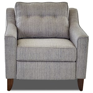Contemporary Power High Leg Reclining Chair with Tufted Seat Back