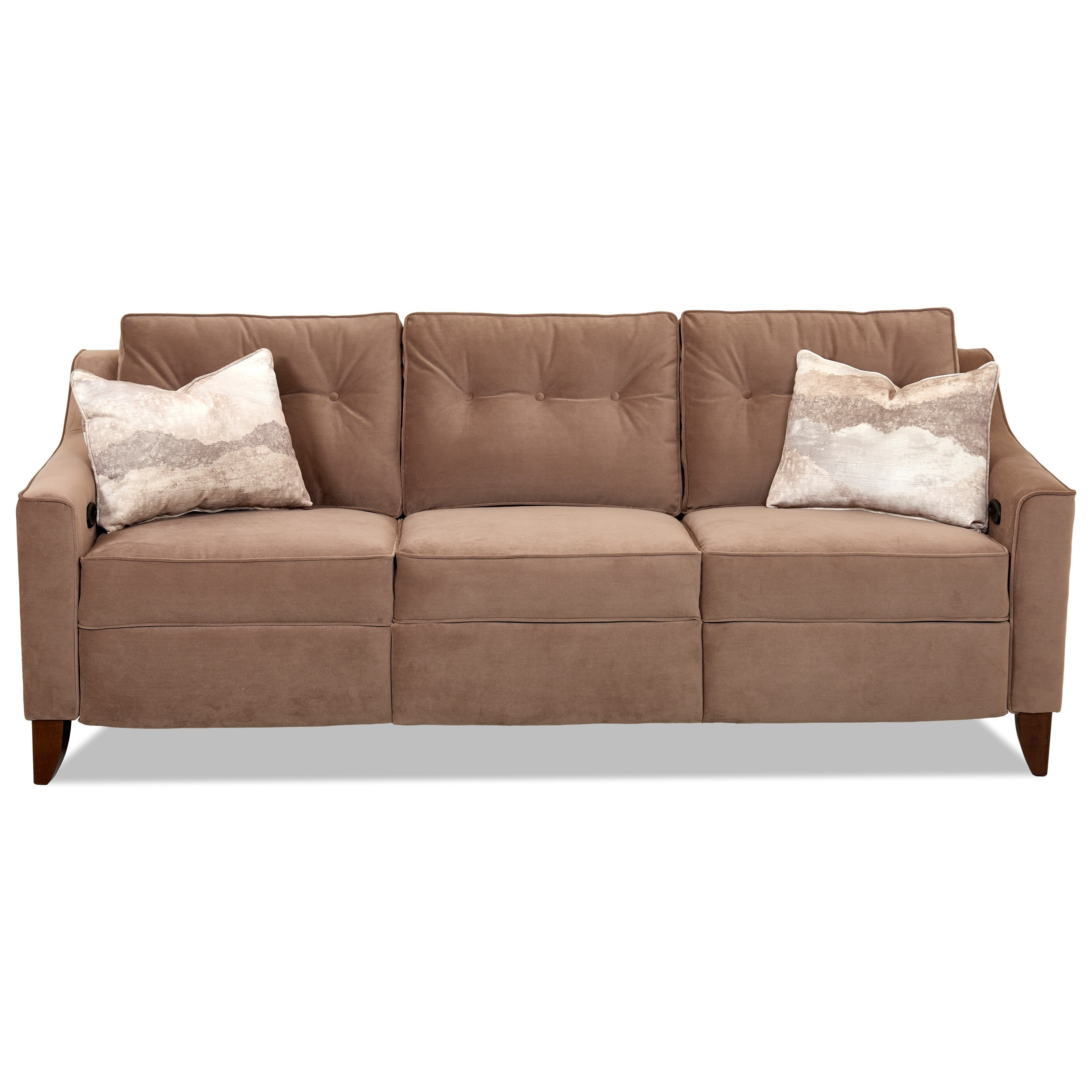 Contemporary High Leg Power Reclining Sofa
