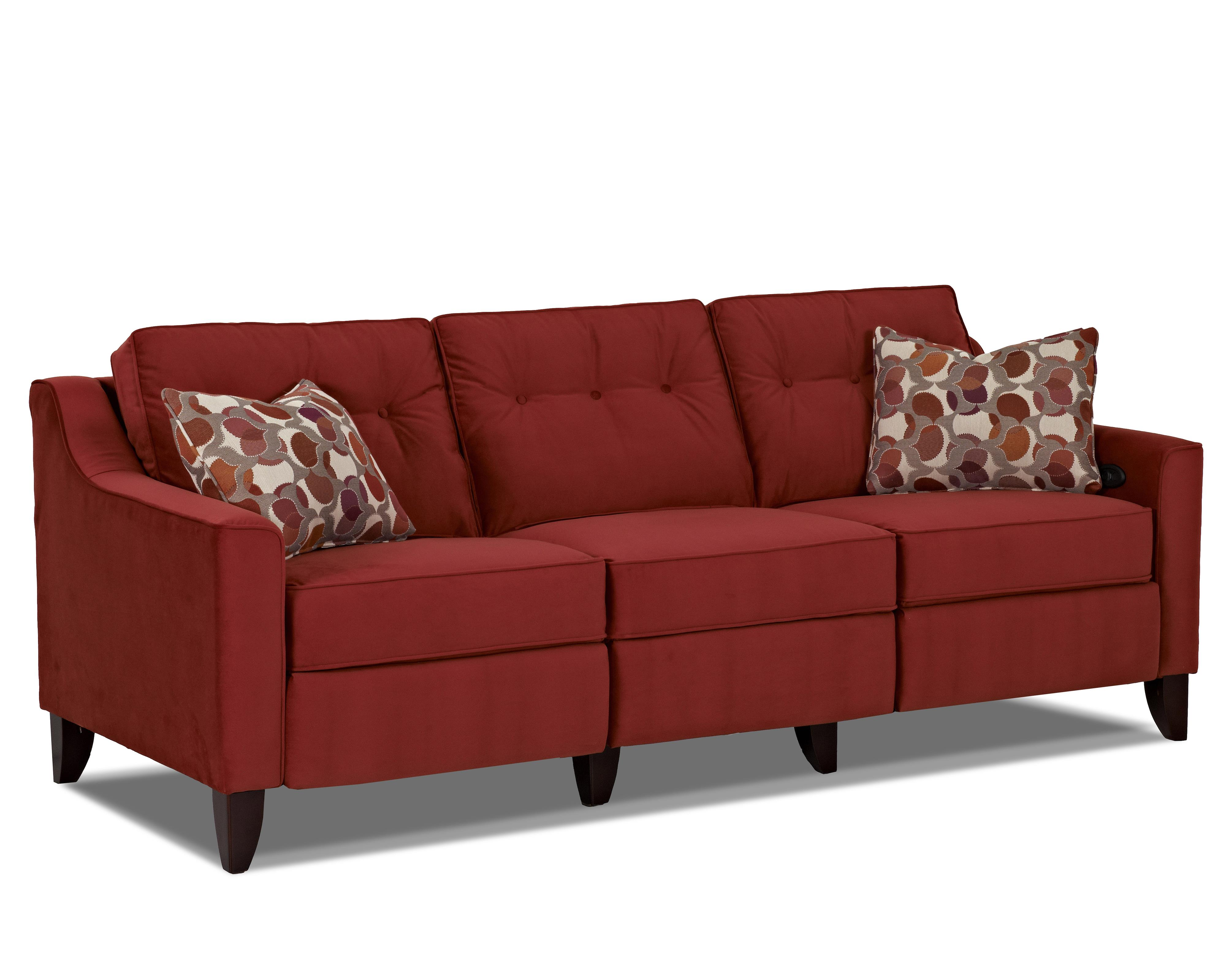 Contemporary High Leg Power Reclining Sofa by Trisha Yearwood Home