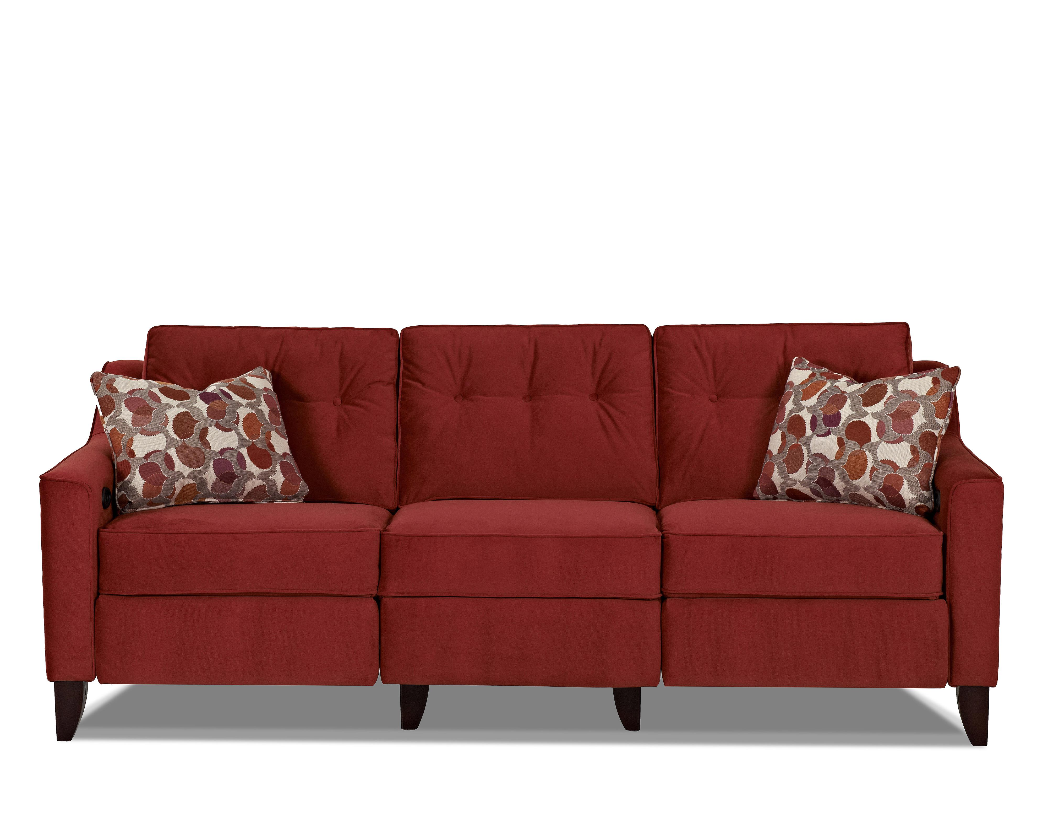 Contemporary High Leg Power Reclining Sofa By Klaussner