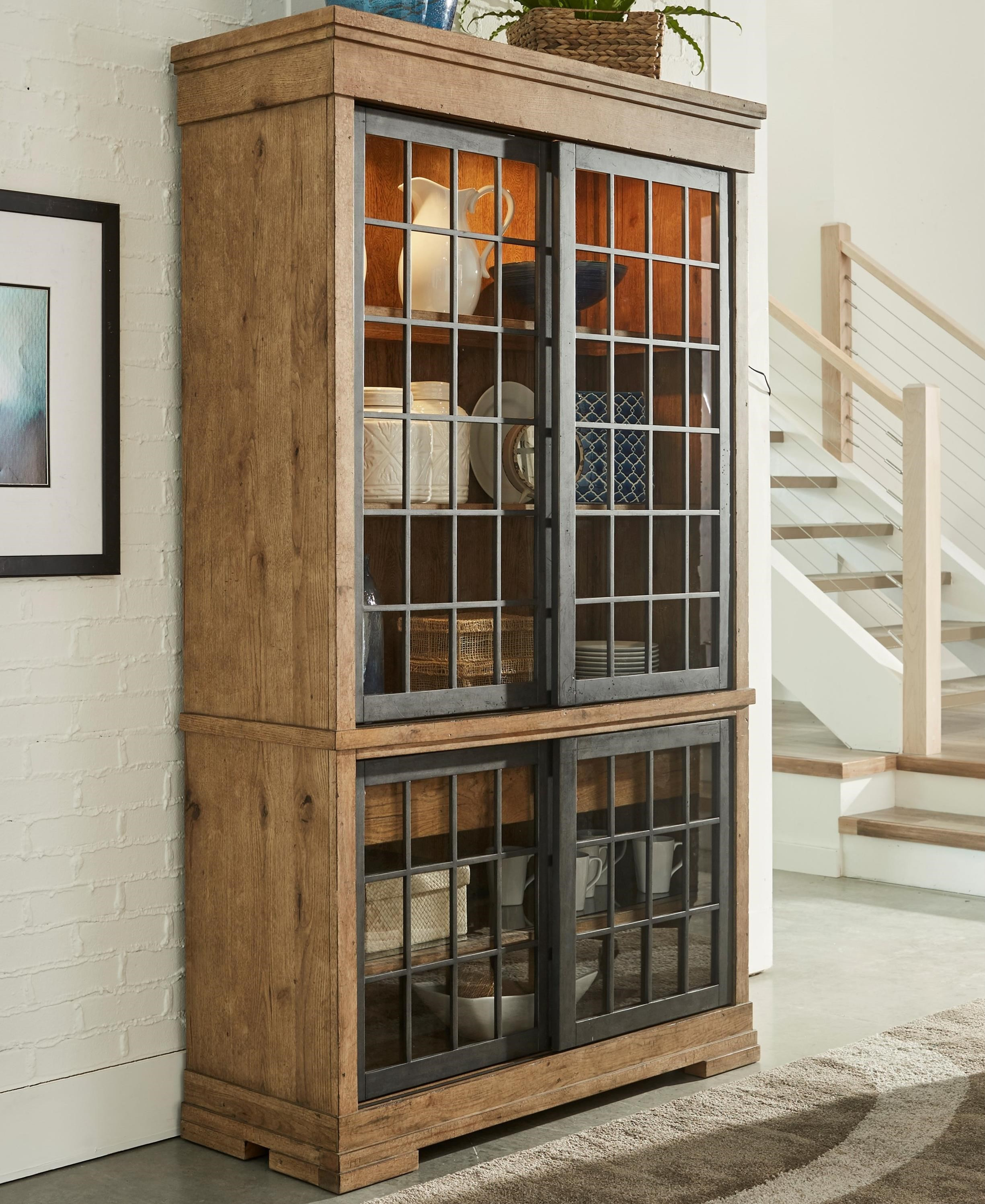 Affection Display Cabinet with Lighting and Sliding Glass