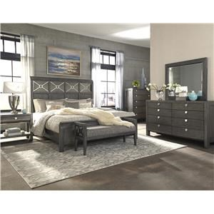 4 pc Bedroom with Qn Bed,Dresser, Mirror and Nightstand