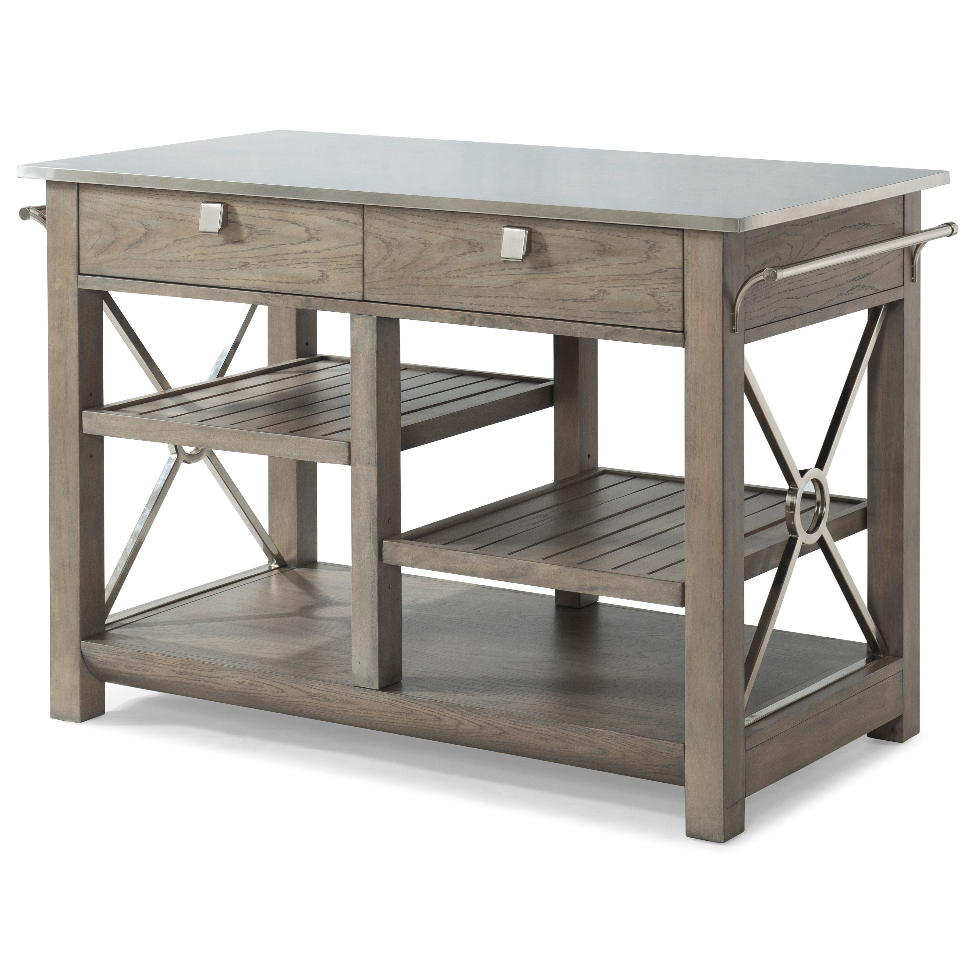 """Here es Temptation"""" Kitchen Island with Stainless Steel Top by"""