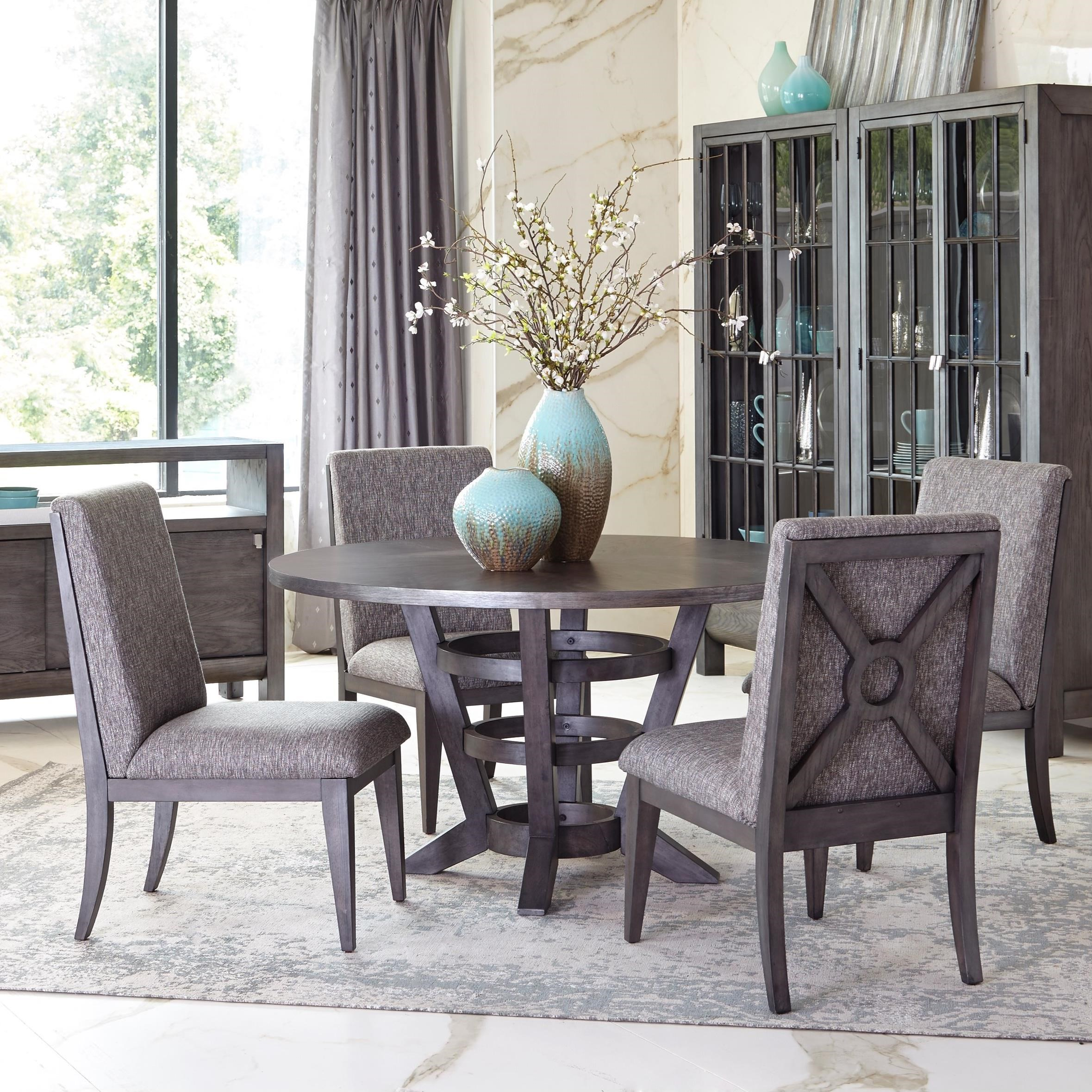 Hello Im Gone Dining Room Table And Four Upholstered Chairs Set
