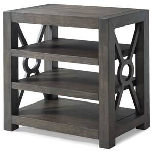 Lying To The Moon Open Shelf Night Table With Three Shelves By Trisha Yearwood