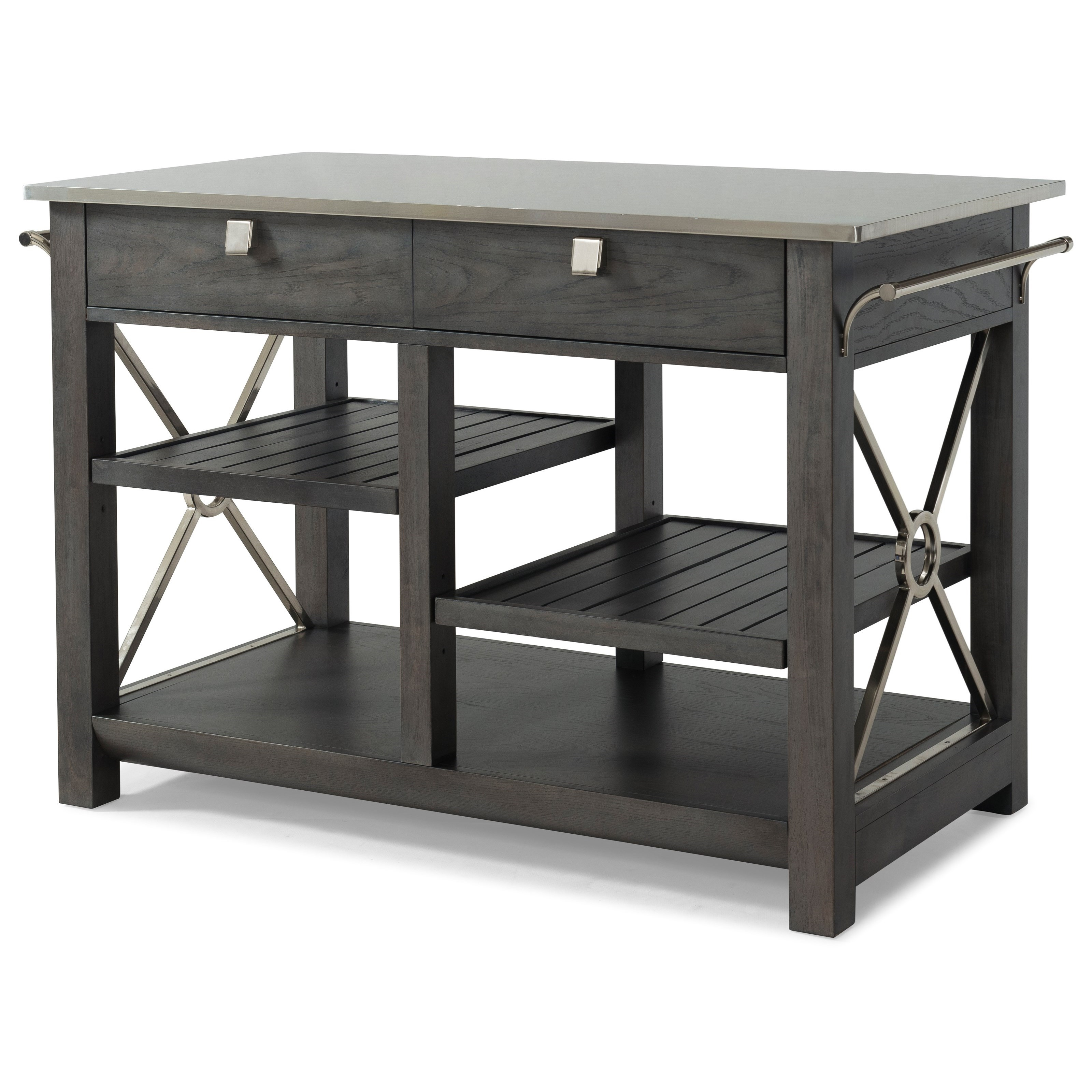 Here Comes Temptation Kitchen Island With Stainless Steel Top By Trisha Yearwood
