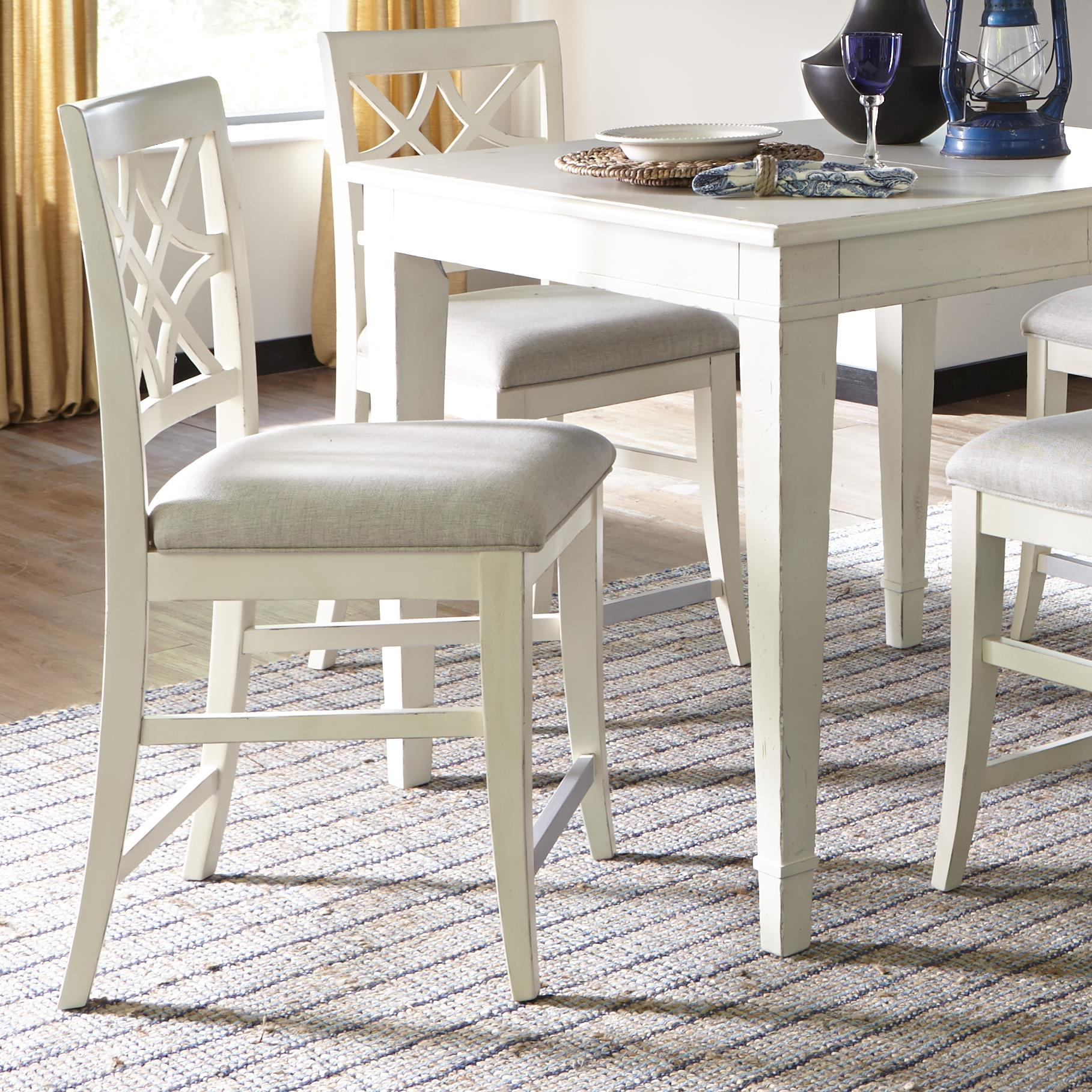Nashville counter height chair with lattice back by trisha