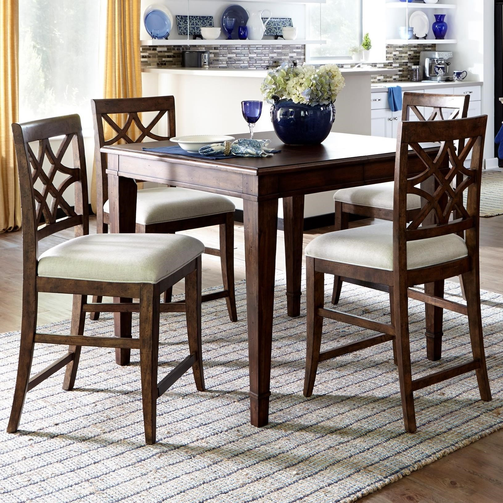 5 Piece Counter Height Table and Chairs Set & 5 Piece Counter Height Table and Chairs Set by Trisha Yearwood Home ...