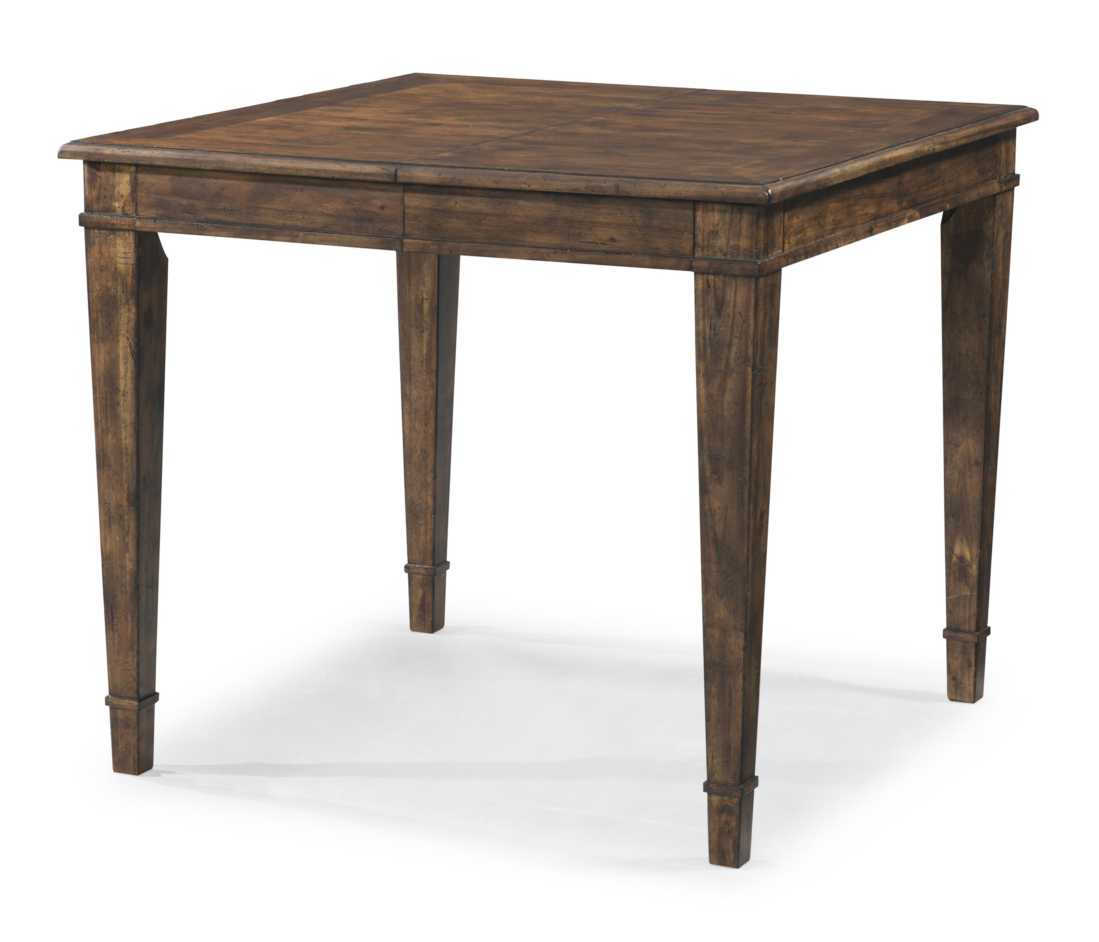 Southern Kitchen Counter Height Table With 18 Inch Leaf By