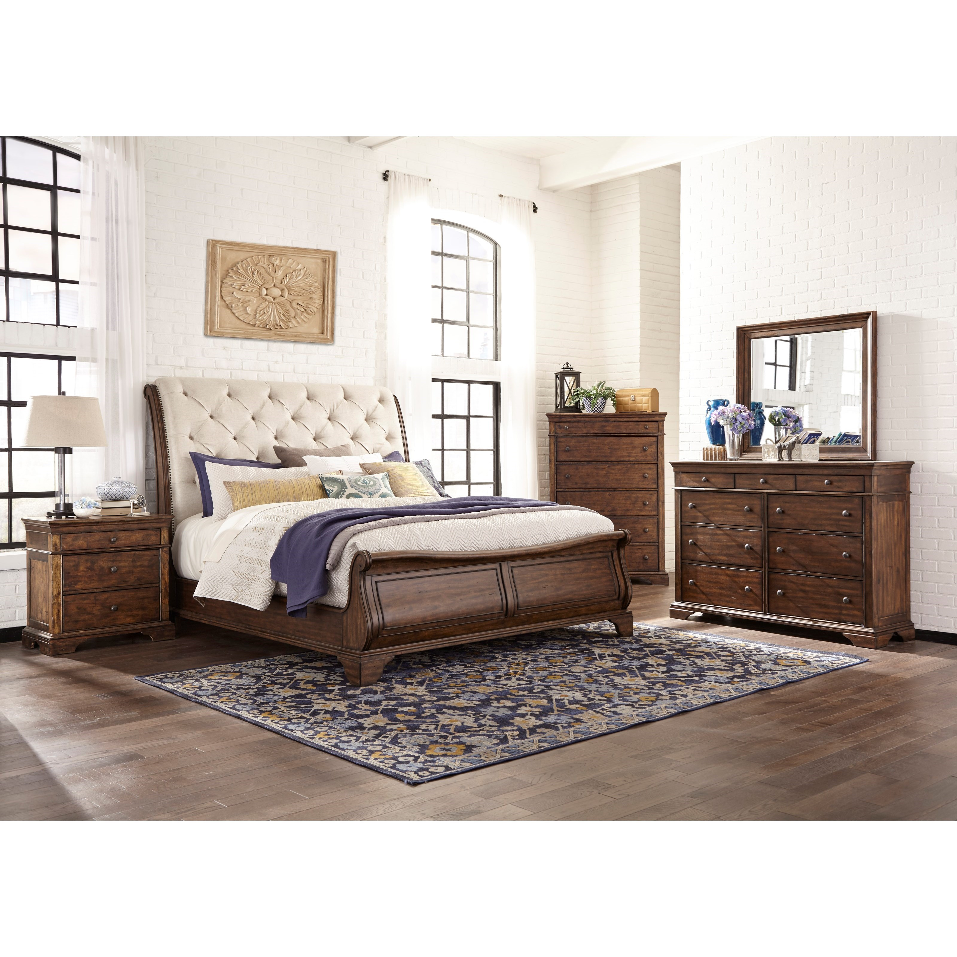 and queen by drew sleigh furniture tufted headboard products bed linen footboard with upholstered