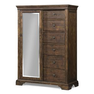 Tulsa Sliding Door Chest with Mirror