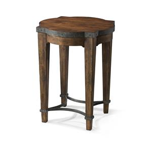 Ginko Chairside Table with Metal Details