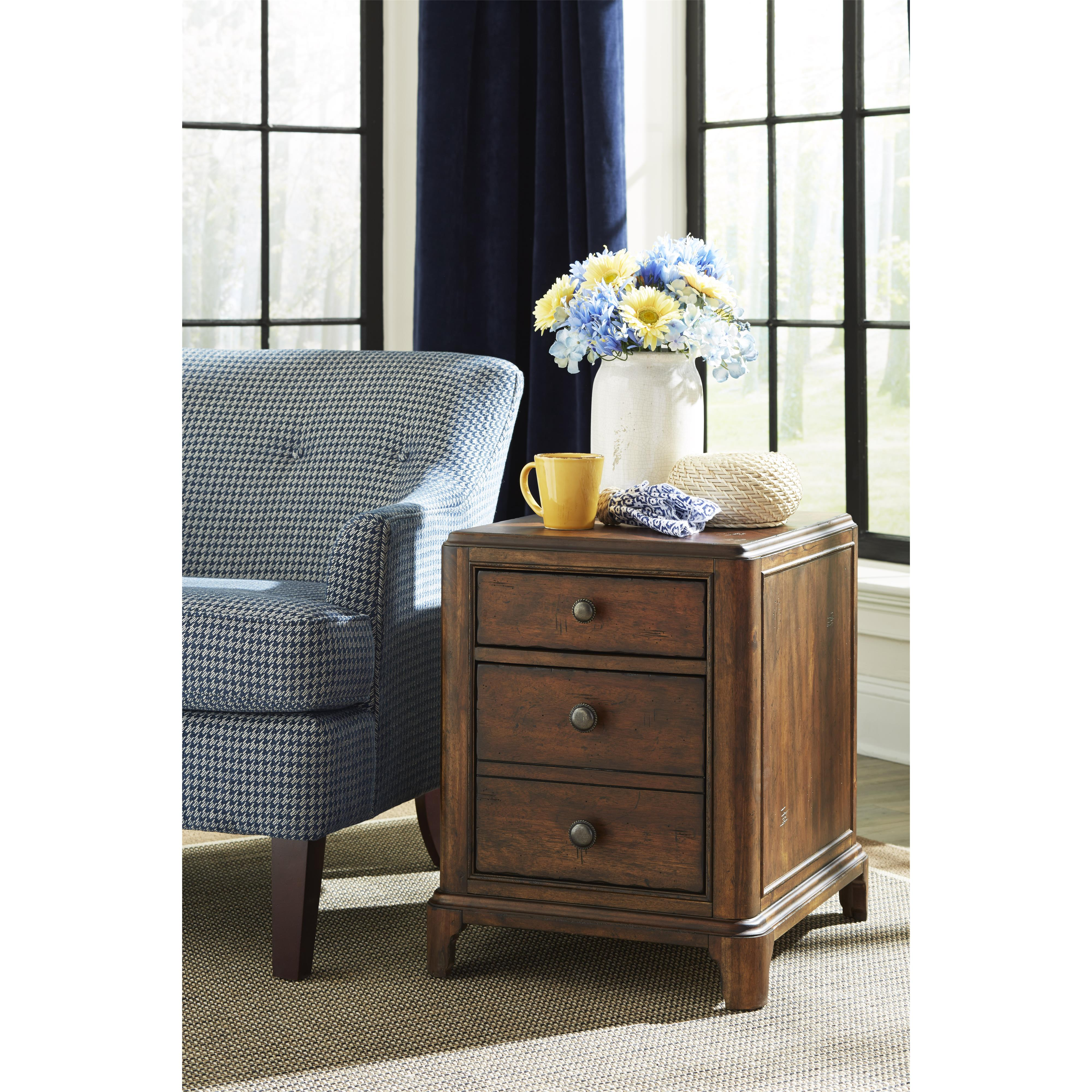 Georgia Rain Drawer Chairside Table By Trisha Yearwood