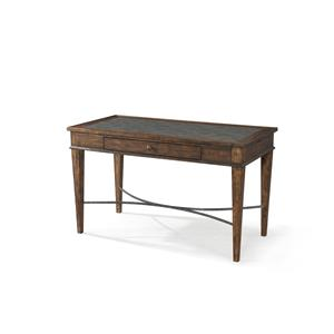 Xxx's and Ooo's Table Desk with Metal Accents