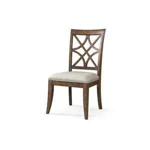 Nashville Special Order Side Chair with Lattice Back and Upholstered Seat