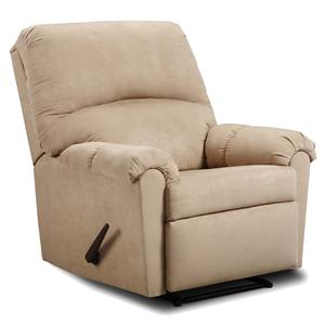 Simmons Upholstery Victory Lane Taupe Reclining Chair