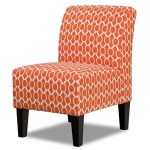 Contemporary Armless Accent Chair