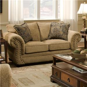 Simmons Upholstery 4277 Loveseat