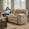 United Furniture Industries 50580BR Casual Power Double Motion Loveseat - Image shown may not represent reclining option indicated