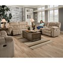 United Furniture Industries 50580BR Casual Power Double Motion Sofa - Image shown may not represent reclining option indicated