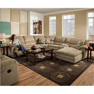 United Furniture Industries 50880 Reclining Living Room Group