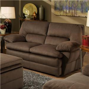 Simmons Upholstery 6120 Casual Stationary Loveseat