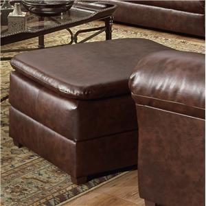 Cushion Topped Ottoman Footrest