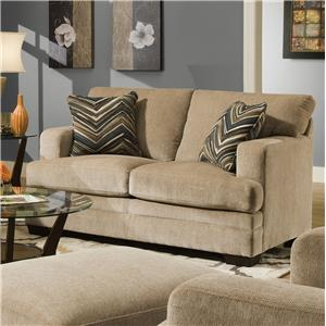 Simmons Upholstery 6491 Transitional Stationary Loveseat