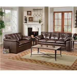 Simmons Upholstery 6569 2 Piece Living Room Group