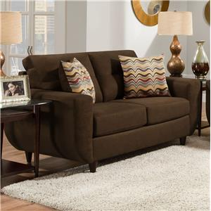 Simmons Upholstery 6950 Contemporary Loveseat