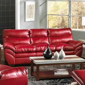 Casual Contemporary Three Seat Sofa with Angled Pillow Arms