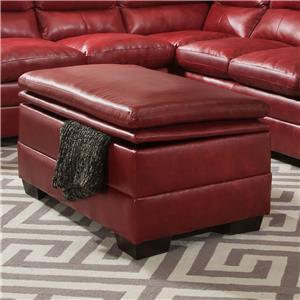 United Furniture Industries 9515 Casual Storage Ottoman