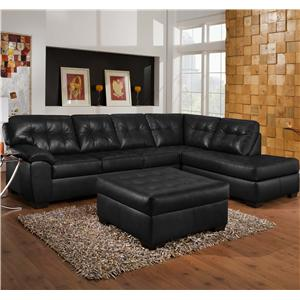 United Furniture Industries 9569 2 Piece Sectional