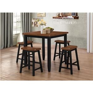 Counter Height Table and 4 Backless barstools