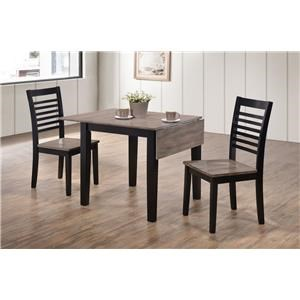 3pc Casual Table and 2 Side Chairs