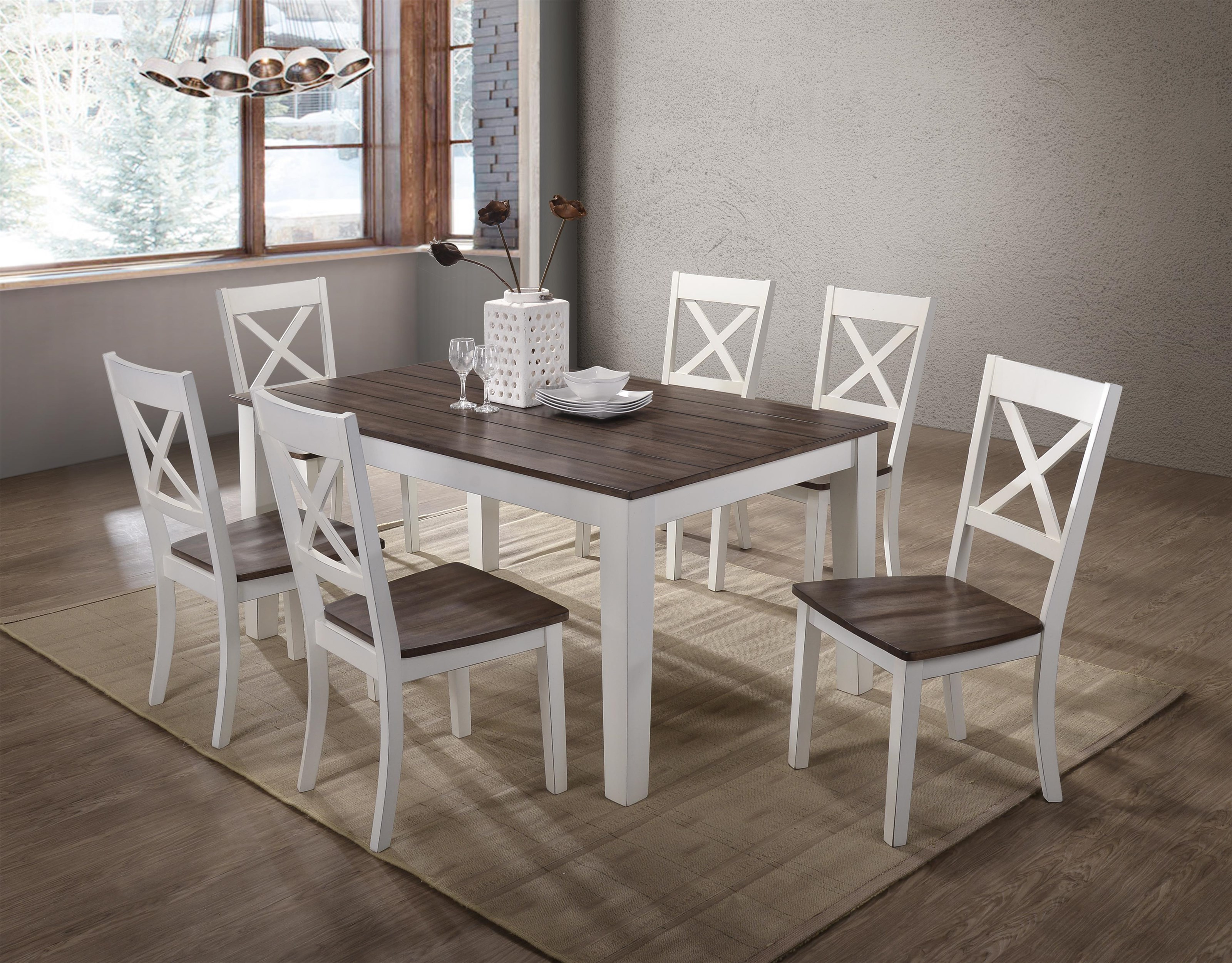 5pc Dining Set By United Furniture Industries Wolf Furniture