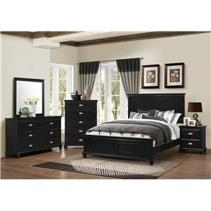 5pc Bedroom includes Queen Bed, Dresser, Mirror, Nightstand, and Chest