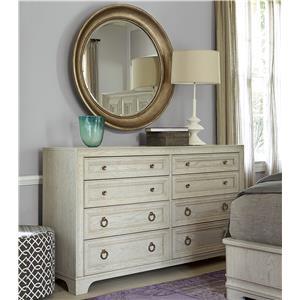 Universal California - Malibu Dresser and Mirror Set