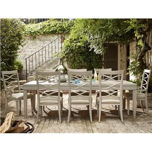 Great Rooms California - Malibu 9 Piece Dining Set
