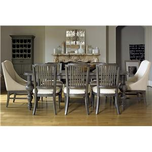 Universal Great Rooms - Berkeley 9 Piece Dining Set