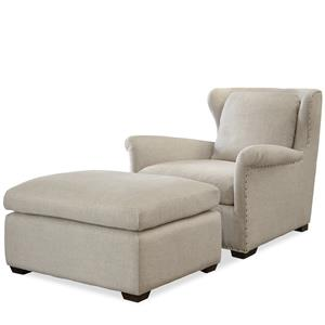 Universal Haven Transitional Chair and Ottoman Set