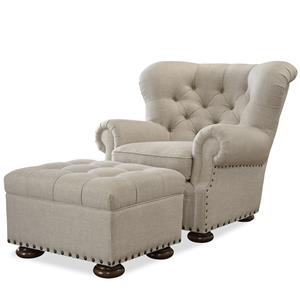 Universal Maxwell Chair and Ottoman Set