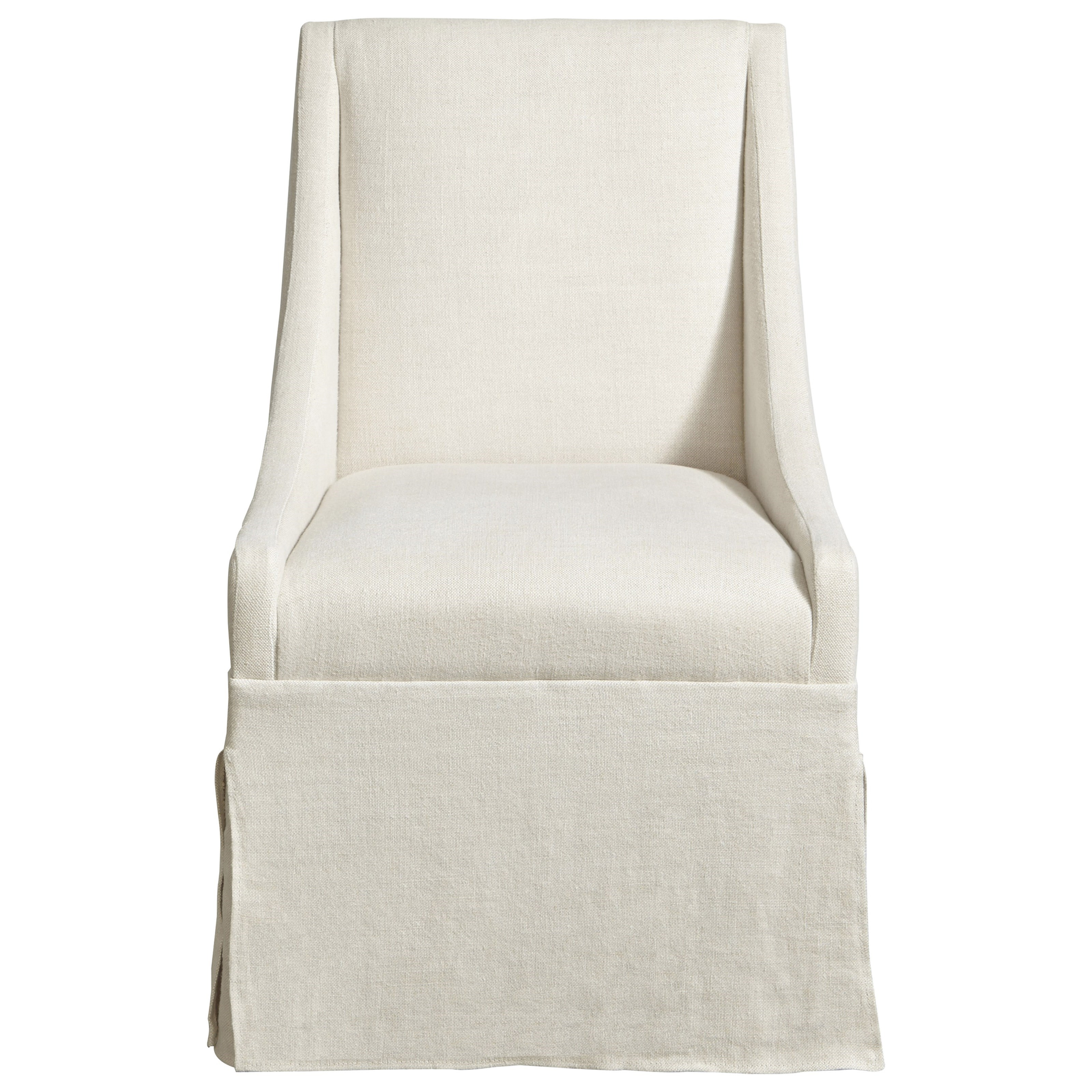 Townsend Castered Upholstered Dining Chair With Skirt