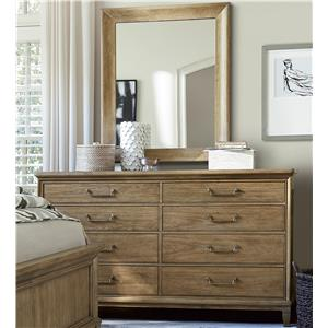 Universal Moderne Muse Dresser and Mirror Set