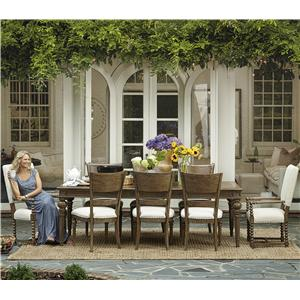 Great Rooms New Bohemian 9 Piece Dining Set
